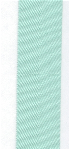 Mint Cotton Herringbone 20mm