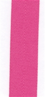 Hot Pink Cotton Herringbone 20mm