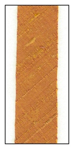 Burnt Sienna Dupioni Silk 18mm Ribbon