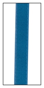 Parrot Blue Double Faced Satin Ribbon 9mm