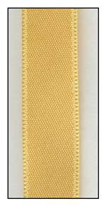 Maize Double Faced Satin Ribbon 9mm