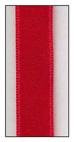 Red Double Faced Satin Ribbon 9mm