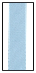 Powder Blue Double Faced Satin Ribbon 15mm