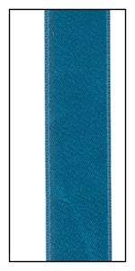 Parrot Blue Double Faced Satin Ribbon 15mm