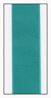 Aquamarine Double Faced Satin Ribbon 25mm