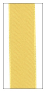 Maize Double Faced Satin Ribbon 25mm