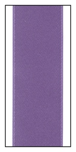 Heliotrope Double Faced Satin Ribbon 25mm
