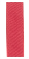 Coral Double Faced Satin Ribbon 25mm