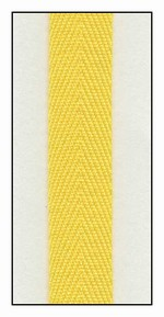 Sunshine 13mm Herringbone Ribbon