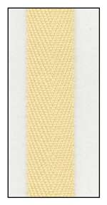 Daffodil 13mm Herringbone Ribbon