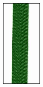Green Leaf 13mm Herringbone Ribbon