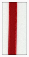 Red Double Faced Satin Ribbon 6mm
