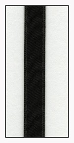 Black Double Faced Satin Ribbon 6mm