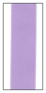Violet Mist Double Faced French Satin Ribbon 25mm