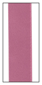 Dusty Rose Double Faced French Satin Ribbon 25mm