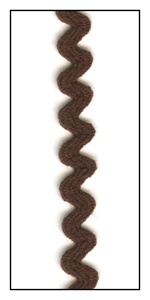 Brown 6mm Ric-Rac-Rac