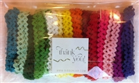 Bright Rainbow 6mm Ric-Rac Ribbon Pack