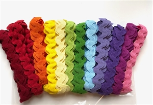 Rainbow 16mm  Ric-Rac Ribbon Pack