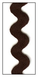 Brown 16mm Ric-Rac