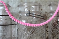 Hot Pink Pom Pom Fringe 10mm Trim with 6mm Balls
