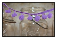 Orchid Pom Pom Fringe 25mm Trim with 10mm Balls