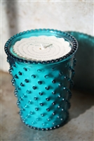 No. 14 Spanish Lime Hobnail Glass Candle
