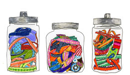 All of the jars and imagery on this site were hand drawn by Amber.