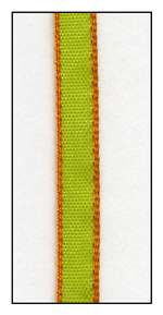 Orange Edged Lime Faveur Ribbon 5mm