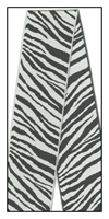 Zebra Print Woven Reversible Ribbon 40mm