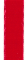 Red French Velvet Ribbon 23mm