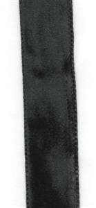 Black French Crushed Velvet Ribbon 16mm