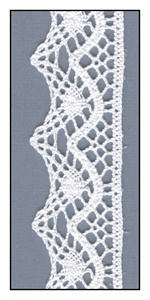 White Scalloped Cotton Lace Trim 30mm
