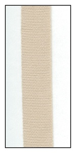 Ecru Organic Cotton Ribbon 12mm