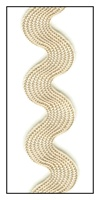Tan Medium Rayon Ric-Rac 15mm