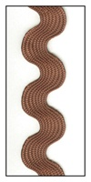 Cinnamon Medium Rayon Ric-Rac 15mm