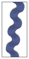 Royal Blue Medium Rayon Ric-Rac 15mm