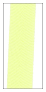 Fluorescent Yellow 20mm Herringbone Ribbon