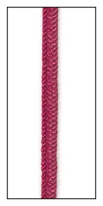 Bright Cherry Twill Cord 4mm
