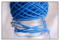 Cerulean Blue Spindle Cord 3mm