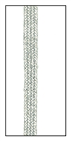 A metallic woven ribbon tape