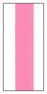 Fluorescent Pink 12mm Herringbone Ribbon