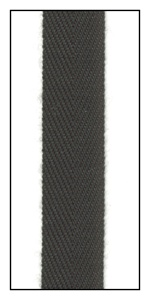 Black 12mm Herringbone Ribbon