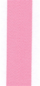 Bubblegum Cotton Herringbone 20mm