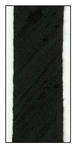 Black Dupioni Silk 18mm Ribbon