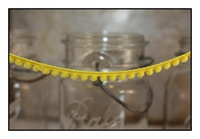 Yellow Pom Pom Fringe 10mm Trim with 6mm Balls