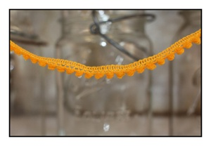 Tangerine Mini Pom Pom Fringe 10mm Trim with 5mm Balls